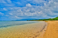 竹富岛海岛海滩在日本 免版税库存照片