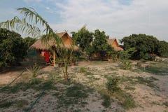 竹小屋在泰国 免版税图库摄影