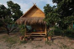 竹小屋在泰国 免版税库存照片