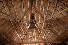 竹小屋,一部分的一所当地住宅在泰国 库存图片