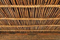 竹小屋,一部分的一所当地住宅在泰国 免版税库存照片