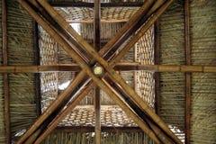 竹屋顶 库存照片