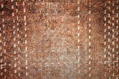 竹工艺品模式泰国织法 免版税库存图片