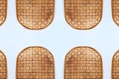 竹帆布篮纹理和样式 图库摄影