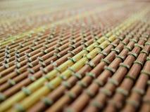 竹席子-立场食物 库存图片