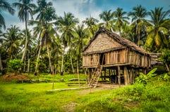 竹房子在Palembe 库存照片