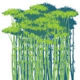 竹无缝的结构丛林向量 库存照片