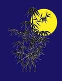 竹晚上 向量例证