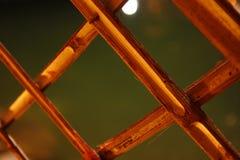 竹木制框架关闭 免版税库存照片