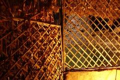 竹木制框架关闭 免版税图库摄影