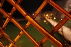 竹木制框架关闭 免版税库存图片