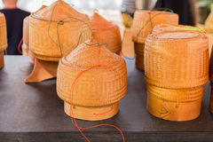 竹木古板的样式箱子 库存照片