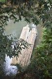 竹木筏 库存照片
