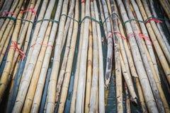 竹材料为关于建筑工作的使用 图库摄影