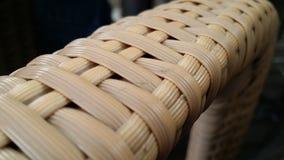 竹条纹扶手 免版税库存照片