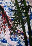 竹树和李子分支 图库摄影