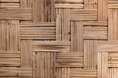 竹样式泰国墙壁 免版税库存图片