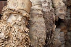 从竹根的艺术产品 免版税库存照片