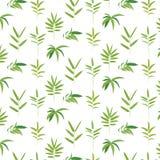 竹框架绿色叶子 向量例证
