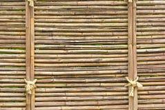竹棕色墙壁 免版税库存照片