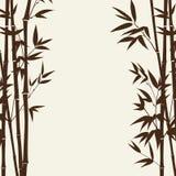 竹森林卡片 库存照片