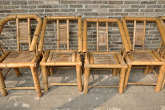 竹椅子 免版税图库摄影