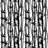 竹水彩词根和叶子无缝的样式在白色背景 向量例证