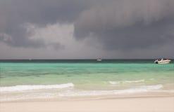 竹海岛海滩 免版税库存照片