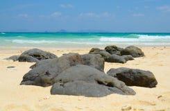 竹海岛,泰国的石头 库存图片