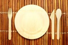 竹碗筷 免版税库存图片