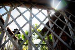 竹篱芭墙壁 库存图片