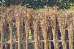 竹篱芭样式在日本禅宗庭院里 免版税图库摄影