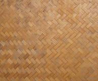 竹纹理的织法样式 免版税库存照片