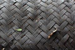紫竹编织的样式 免版税库存照片