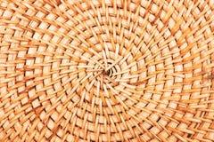 竹袋子或placemat纹理特写镜头 库存照片