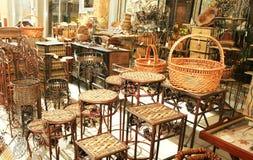 竹装饰家具 库存照片