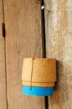 竹配件箱做米 免版税库存照片