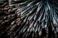 竹钉,木材料 免版税库存照片