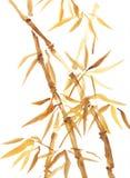 竹水彩亚洲样式绘画 皇族释放例证
