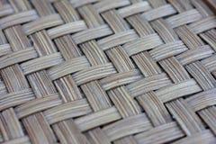 竹织法样式纹理和背景 库存图片