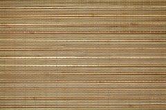 竹placemat纹理 免版税库存图片