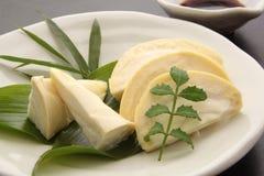 笋生鱼片,日本食物 免版税库存图片