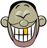 笑东方的人歇斯底里 免版税库存照片