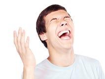 笑声特写镜头 免版税库存图片