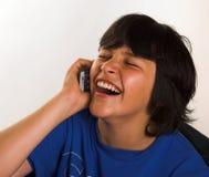 笑声移动电话 免版税库存照片