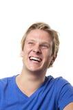 笑的人年轻人 免版税图库摄影