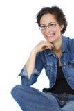 笑的妇女 免版税图库摄影
