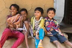 笑的孩子微笑和 库存照片