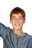 笑的少年 免版税图库摄影