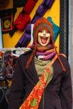 笑的时装模特 免版税图库摄影